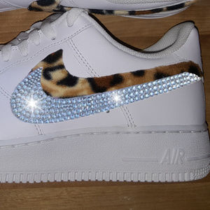Swarovski & Leopard Custom Nike Air Force 1